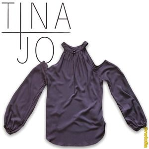 Anthropologie Tina + Jo Cold Shoulder Distressed